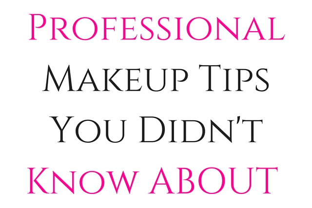 Professional Makeup Tips You Didn't Know About