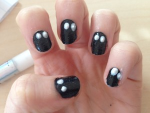 Easy Ghost Nail Art Design