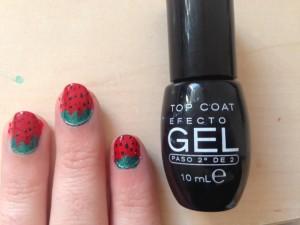 Easy Strawberry Nails Nail Art Design