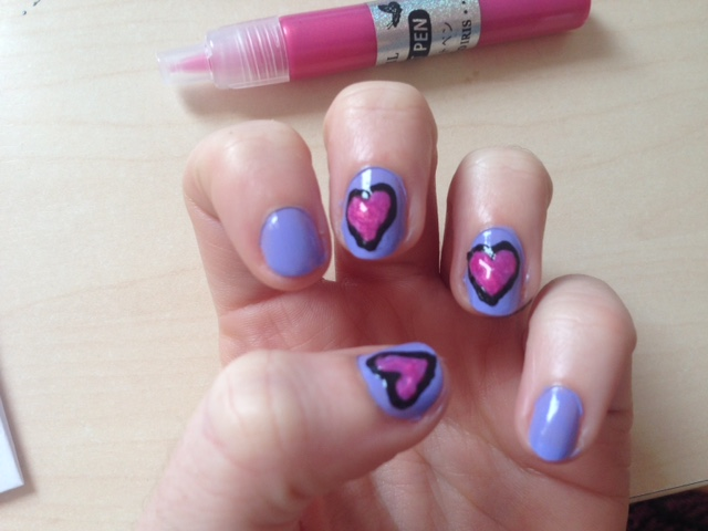 Easy Valentines Day Nail Art Design