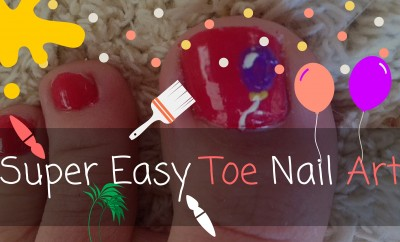 Super Easy Toe Nail Art