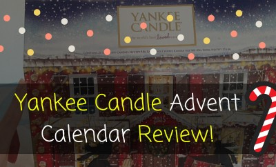 Yankee Candle Advent Calendar Review