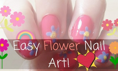 Easy Flower Nail Art