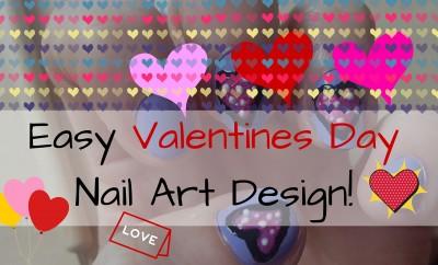 Easy Valentines Day Nail Art Design