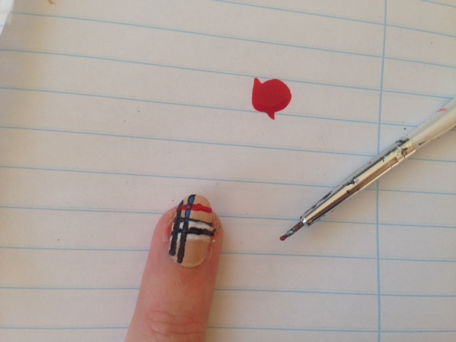 Easy Burberry Nails
