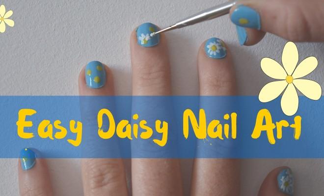Easy Daisy Nail Art