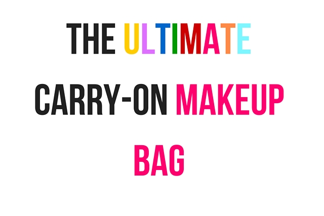 Carry-On Makeup Bag Ideas