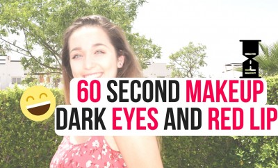 60 Second Makeup - Dark Eyes And Red Lip