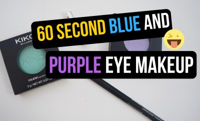 60 Second Blue And Purple Eye Makeup