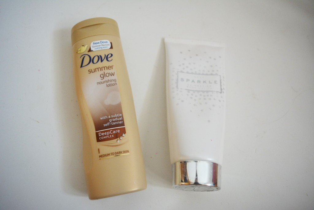 dove and sparkle body lotion picture