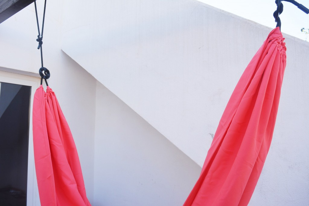 pink hammock from ikea