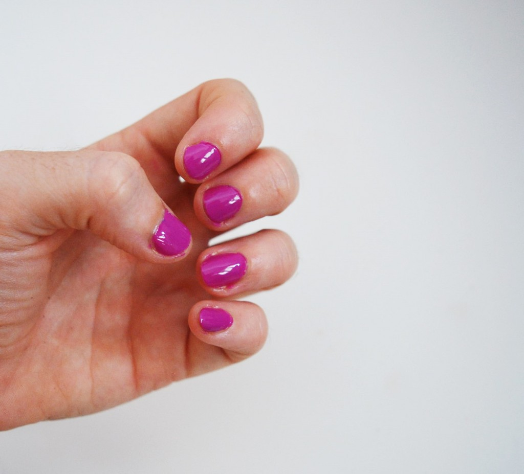 picture of my nails in kiko polish