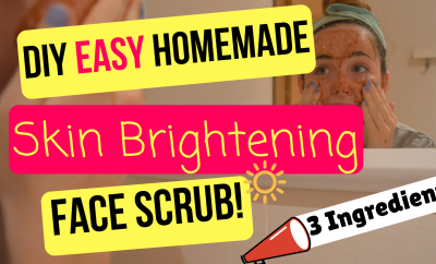 DIY Easy Homemade Skin Brightening Face Scrub