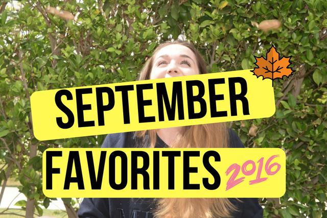 September favourites banner