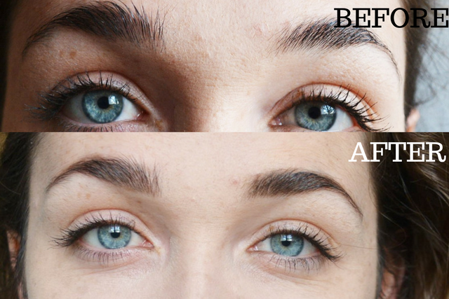 before and after brows